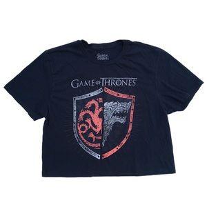 Game Of Thrones Black T-shirt Crop Top Graphic Tee